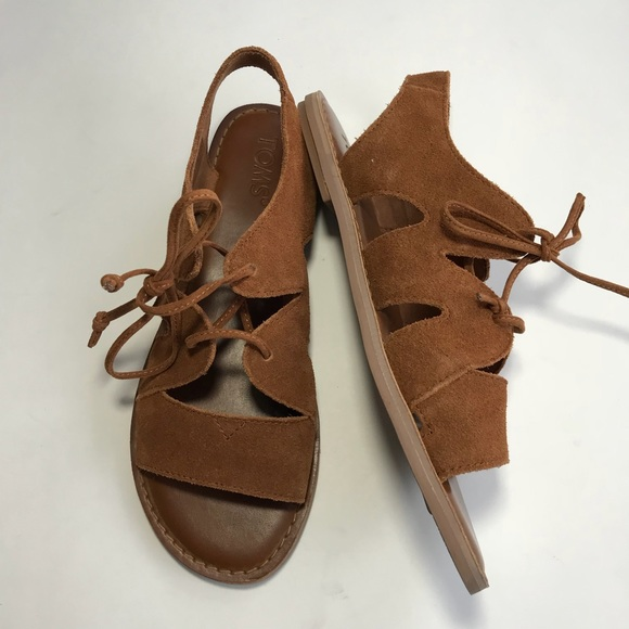 9ce0bb54f80 TOMS Calipso suede lace-up sandals US 7.5 EU 38